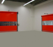 lonas para puertas rápidas rojo