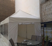 carpas plegables transparentes
