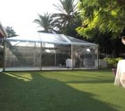 carpas transparentes jardin