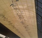 decoración textil techo