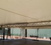 lonas y telas para escenarios abiertas