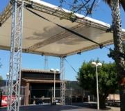 lonas y telas para escenarios concierto