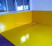 lonas para gimnasios y guarderías amarilla