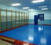 lonas para gimnasios y guarderías azul