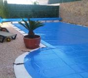 lonas para piscinas jardin
