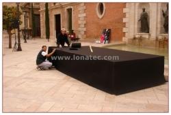 escenario plaza de la virgen