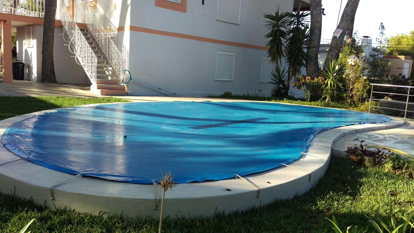 Lona para piscina en lonatec todos las medidas los for Lona interior piscina desmontable