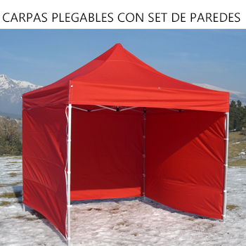 CARPAS PLEGABLES CON SET DE PAREDES