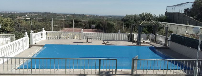 Montaje lona para piscina