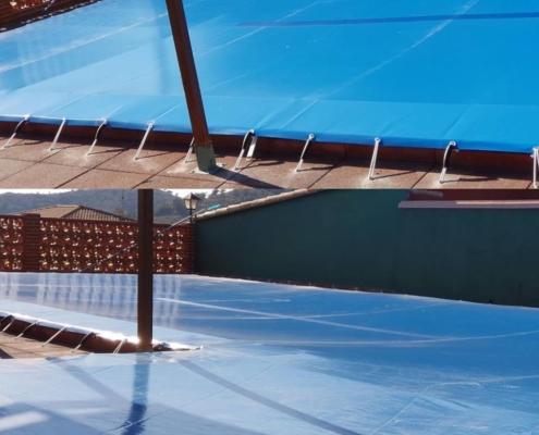 cobertores de piscinas, lonas para piscinas valencia