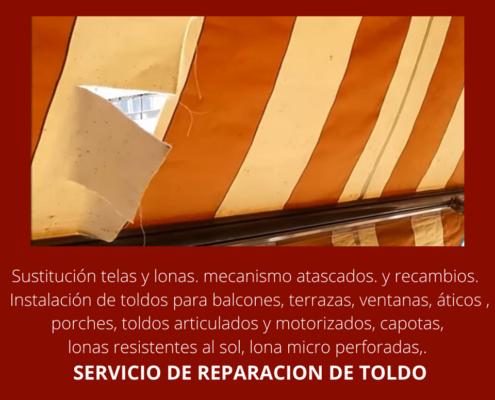 toldos en valencia, reparacion toldos valencia