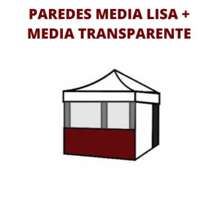 1/2 Pared Transparente + 1/2 Pared Estandar