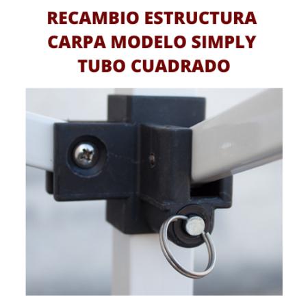 Recambio Estructura Carpa Plegables Perfil Cuadrado
