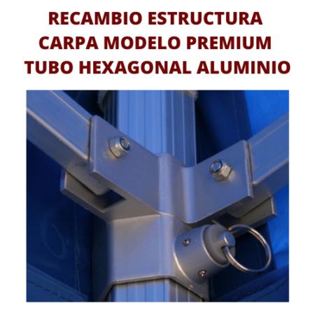 Recambio Estructura Carpa Plegables Perfil Hexagonal